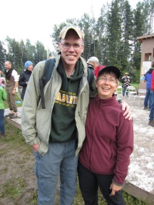 With Bill McKibben, Healing Walk, Fort McMurray, July 2013