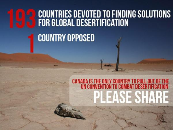 Canada pulls out of UN desertification working group