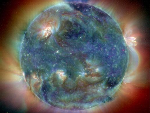 sun at summer solstice 2004