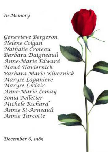 roses of remembrance.Dec 6.1989