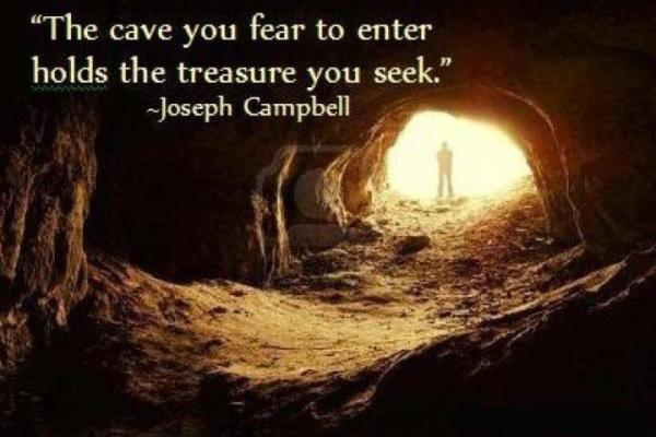the cave you fear joseph campbell quote