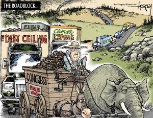 David Horsey Cartoon, LA Times, Jan 15, 2013