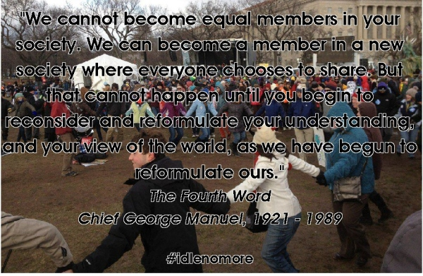 chief george manuel quote