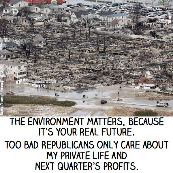the environment matters because it's yr real future