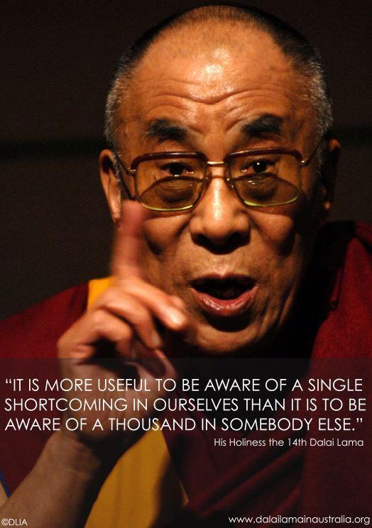 dalai lama quote on shortcomings