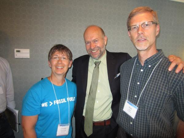 M & C with Dr Jim Hansen. Washington.June 2013