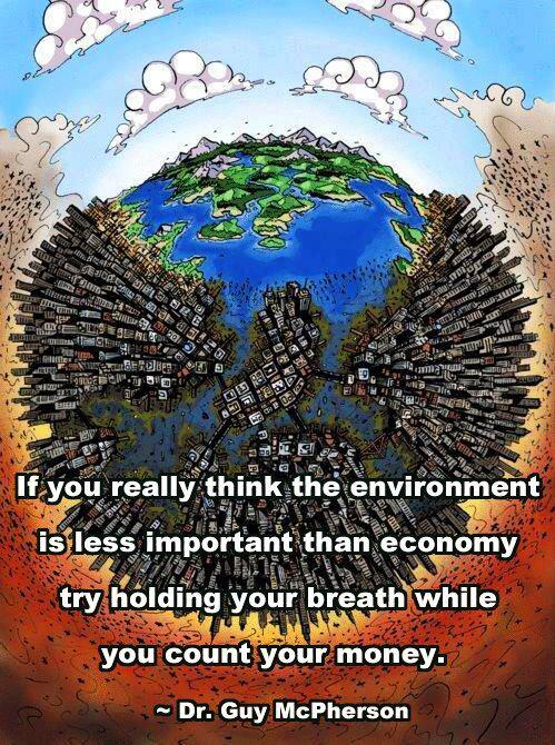 environment vs economy. guy mcpherson