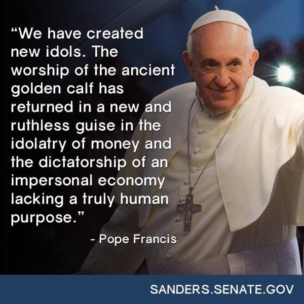 Pope Francis shuts down neoconservatism