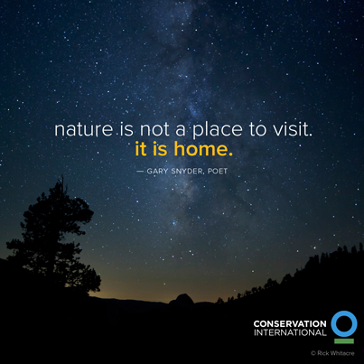 Nature isn't a place to visit.
