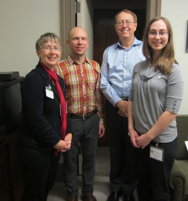 MP Murray Rankin from Victoria (second from right) met with a constituent and two other Citizens' Climate Lobbyists
